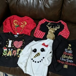 Girls 2T Holiday Tops Bundle